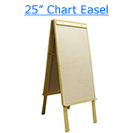 25 inch chart easel