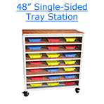 48 inch single-sided tray station