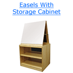 easels with storage cabinet
