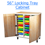 56 inch locking tray cabinet