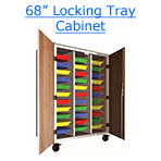 68 inch locking tray cabinet