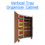 vertical tray organizer cabinet